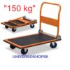 Carrello Portapacchi a piattaforma richiudibile 4 ruote porta tutto 150 Kg