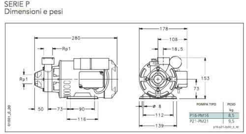 Elettropompa Autoclave Lowara pm16 + Presscontrol 2.2bar Motore Acqua Periferica