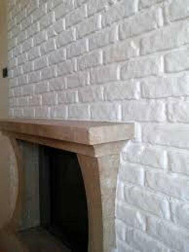 Muro Finto Pannello Parete Finto Muro Bianco Pietra 70x77 Cm Adesivo Realistico