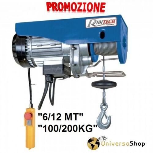 Paranco Elettrico Verricello Elettrico Montacarichi fino 200 Kg Ribitech