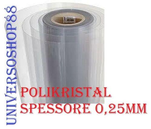 Vetro Sintetico Trasparente Plexiglass H 100 Cm Spessore 0,25 mm al metro