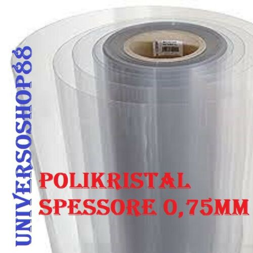Vetro Sintetico Trasparente Plexiglass H 100 Cm spessore 0,75 mm al metro