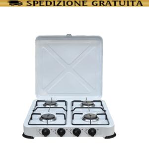 Fornello a Gas Cucina Portatile Fornello da Campeggio 4 Fuochi