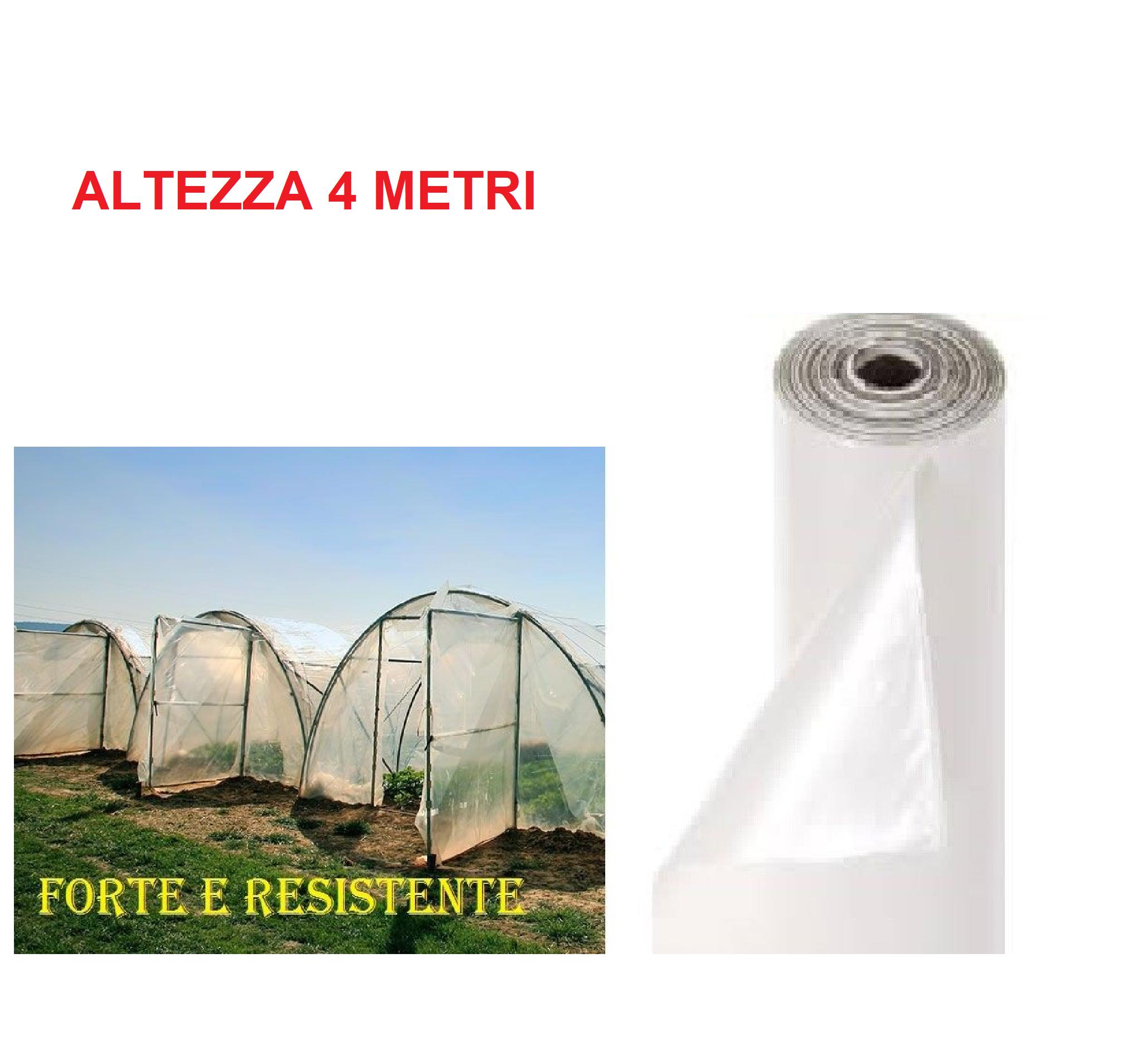 Copertura Giardino Fai Da Te telo polietilene foglia nylon copertura serra gazebo giardino trasparente h  4mt