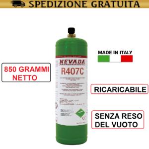 GAS R407C REFRIGERANTE RICARICA PER CLIMATIZZATORI CONDIZIONATORI BOMBOLA R407C