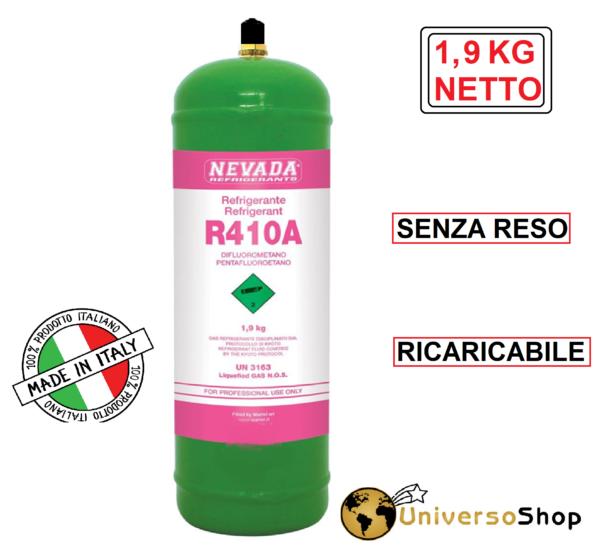 GAS R410A REFRIGERANTE RICARICA PER CLIMATIZZATORI CONDIZIONATORI BOMBOLA R410A