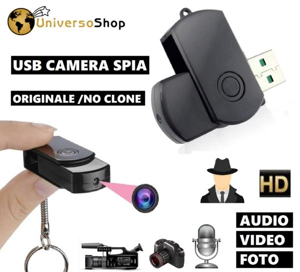 TELECAMERA SPIA CHIAVETTA USB MICROCAMERA NASCOSTA MINI AUDIO VIDEO SPY CAM