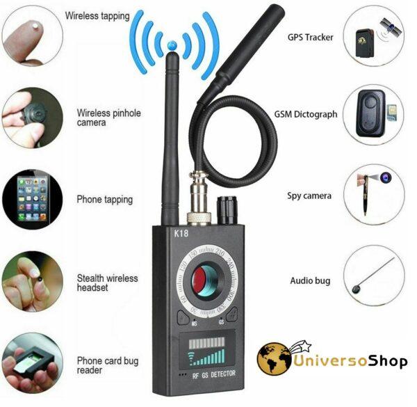 RILEVATORE MICROSPIE CIMICI SPIE MICROTELECAMERE GSM GPS RILEVA SPY CAMERA
